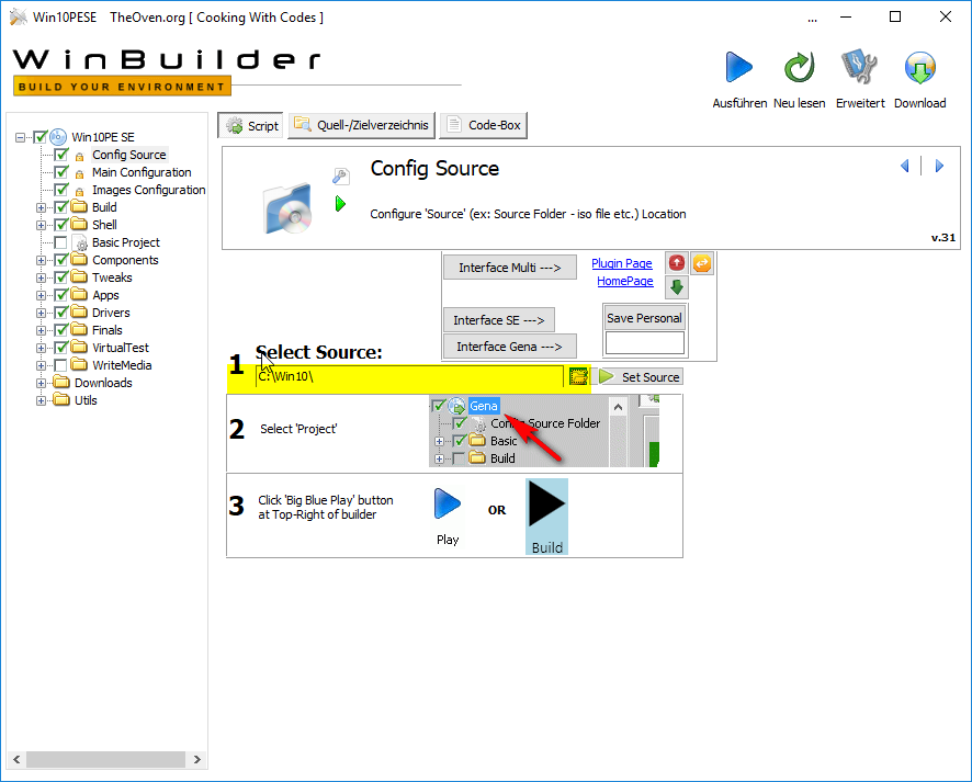 step6 WindowsPE Builder Quelldaten Config