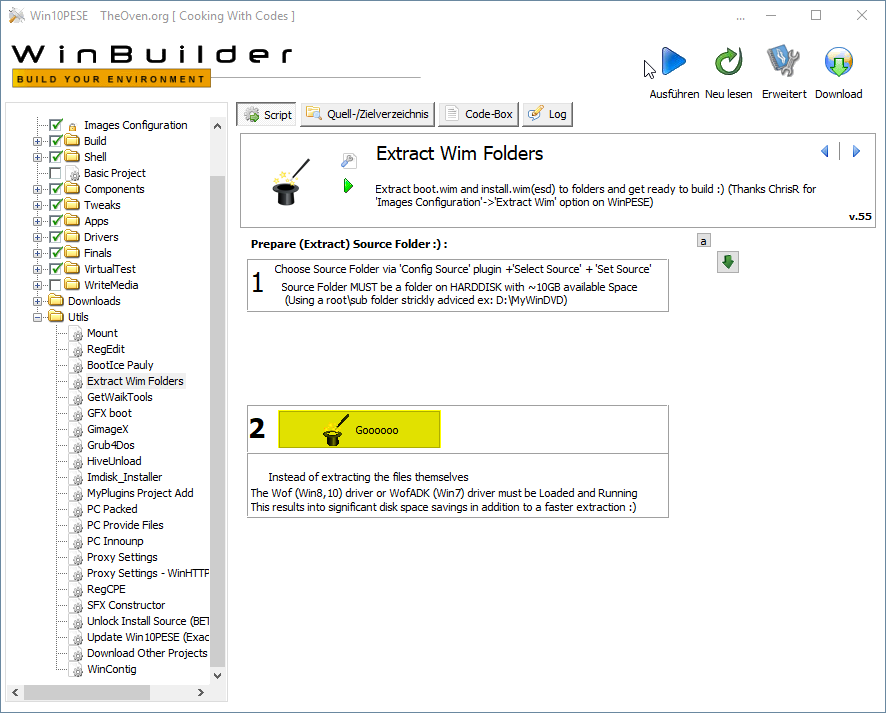 step9 WindowsPE Builder Extract Wim Folders GOOOO